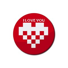 I love you Drink Coaster (Round)