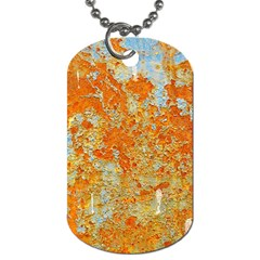 YELLOW RUSTY METAL Dog Tag (Two Sides)