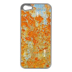 YELLOW RUSTY METAL Apple iPhone 5 Case (Silver)