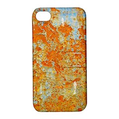 YELLOW RUSTY METAL Apple iPhone 4/4S Hardshell Case with Stand