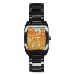 YELLOW RUSTY METAL Stainless Steel Barrel Watch