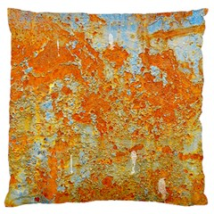 YELLOW RUSTY METAL Standard Flano Cushion Cases (One Side)