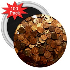 US COINS 3  Magnets (100 pack)