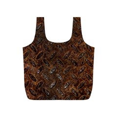 RUSTY METAL PATTERN Full Print Recycle Bags (S)