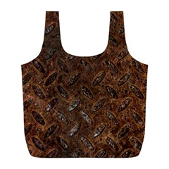 RUSTY METAL PATTERN Full Print Recycle Bags (L)
