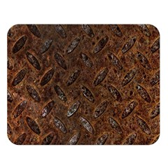 RUSTY METAL PATTERN Double Sided Flano Blanket (Large)