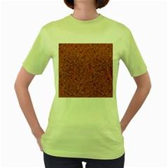 RUSTED METAL Women s Green T-Shirt