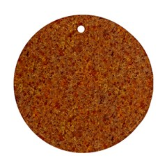 RUSTED METAL Round Ornament (Two Sides)