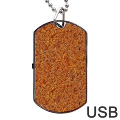 Rusted Metal Dog Tag Usb Flash (one Side)