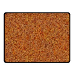 Rusted Metal Double Sided Fleece Blanket (small)