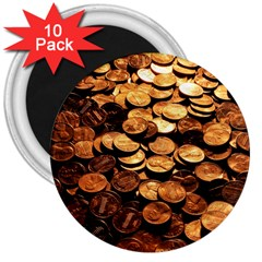 PENNIES 3  Magnets (10 pack)