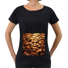 PENNIES Women s Loose-Fit T-Shirt (Black)