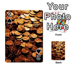 Pennies Playing Cards 54 Designs