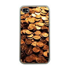 PENNIES Apple iPhone 4 Case (Clear)