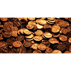 Pennies You Are Invited 3d Greeting Card (8x4)