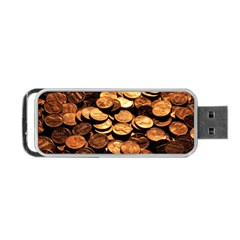 Pennies Portable Usb Flash (two Sides)