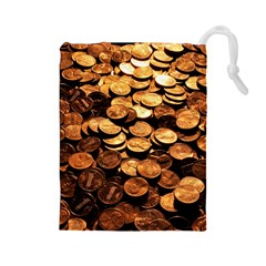 PENNIES Drawstring Pouches (Large)