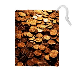 PENNIES Drawstring Pouches (Extra Large)