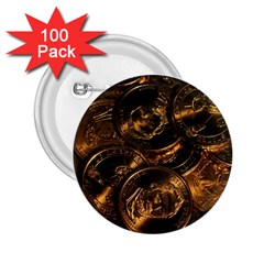 GOLD COINS 2 2.25  Buttons (100 pack)