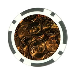 GOLD COINS 2 Poker Chip Card Guards