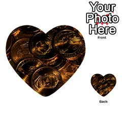 Gold Coins 2 Multi Purpose Cards (heart)