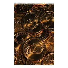 GOLD COINS 2 Shower Curtain 48  x 72  (Small)