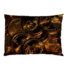 GOLD COINS 2 Pillow Cases (Two Sides)