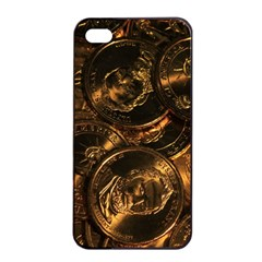 GOLD COINS 2 Apple iPhone 4/4s Seamless Case (Black)