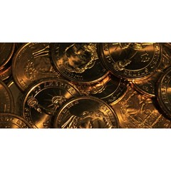 GOLD COINS 2 YOU ARE INVITED 3D Greeting Card (8x4)