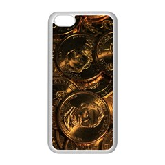 GOLD COINS 2 Apple iPhone 5C Seamless Case (White)