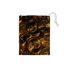 GOLD COINS 2 Drawstring Pouches (Small)