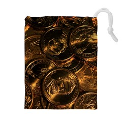 Gold Coins 2 Drawstring Pouches (extra Large)
