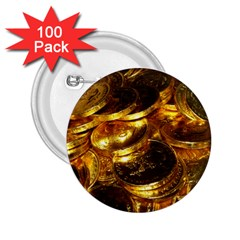 GOLD COINS 1 2.25  Buttons (100 pack)