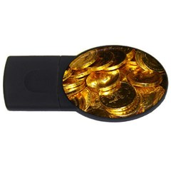 GOLD COINS 1 USB Flash Drive Oval (2 GB)
