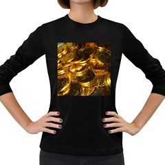 GOLD COINS 1 Women s Long Sleeve Dark T-Shirts