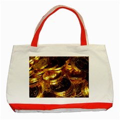 GOLD COINS 1 Classic Tote Bag (Red)