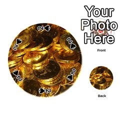 GOLD COINS 1 Playing Cards 54 (Round)
