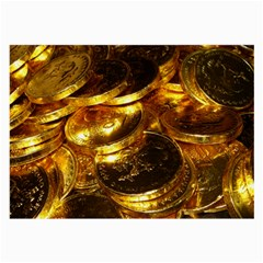 GOLD COINS 1 Large Glasses Cloth