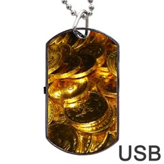 GOLD COINS 1 Dog Tag USB Flash (One Side)