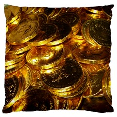 GOLD COINS 1 Large Cushion Cases (One Side)