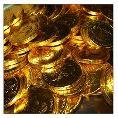 GOLD COINS 1 Large Satin Scarf (Square)