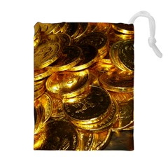 GOLD COINS 1 Drawstring Pouches (Extra Large)