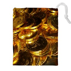 Gold Coins 1 Drawstring Pouches (xxl)