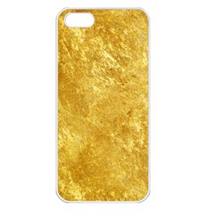 GOLD Apple iPhone 5 Seamless Case (White)