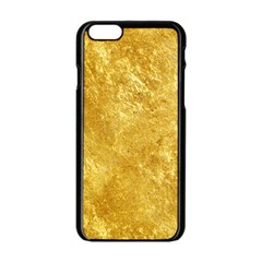 GOLD Apple iPhone 6/6S Black Enamel Case