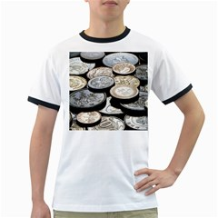 FOREIGN COINS Ringer T-Shirts