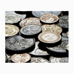 FOREIGN COINS Small Glasses Cloth (2-Side)
