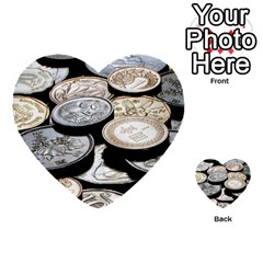 Foreign Coins Multi Purpose Cards (heart)