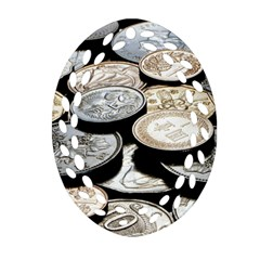 FOREIGN COINS Oval Filigree Ornament (2-Side)