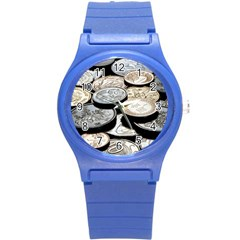 FOREIGN COINS Round Plastic Sport Watch (S)